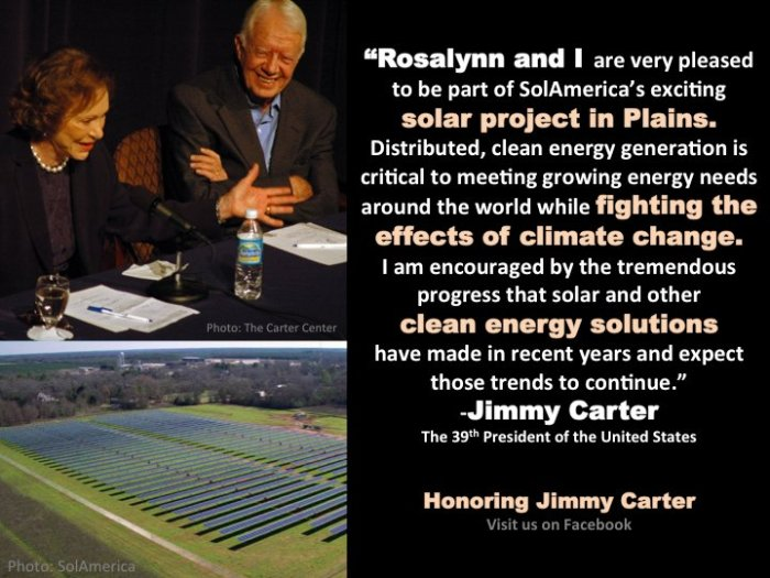 jimmy carter solar panels quote