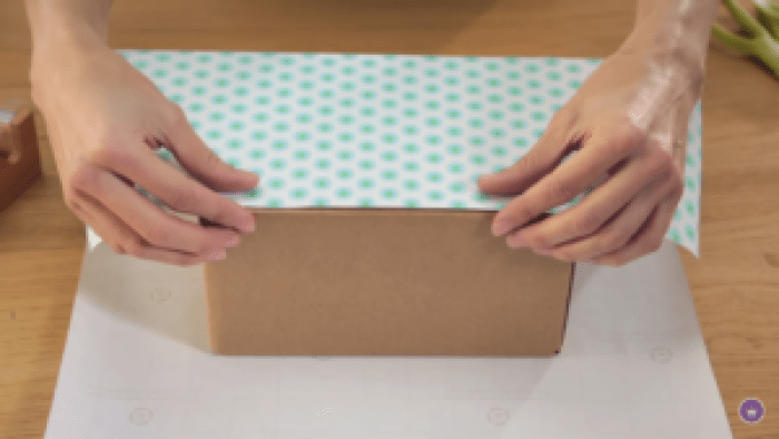 Wrapping a present calls for covering all sides to get even, crisp coverage