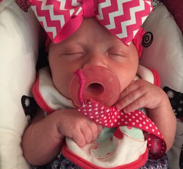 Baby Glory, of Debbie and Shaun Riddle
