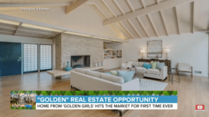 This is a chance to live like one of the Golden Girls in the home used for outside shots