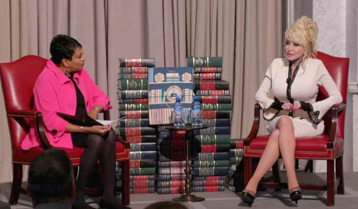 THE LIBRARY THAT DOLLY BUILT, from left: Carla Hayden, the Librarian of Congress, and Dolly Parton at the Library of Congress