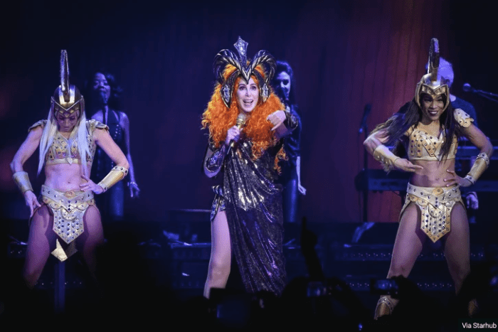 Cher stuns at MSG in new york