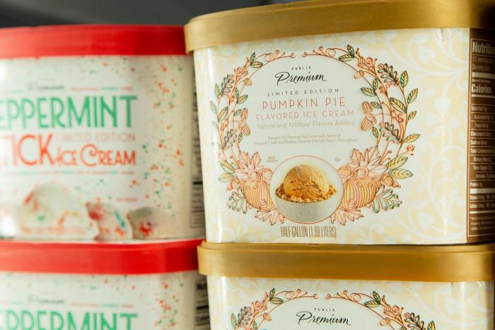 publix holiday ice cream
