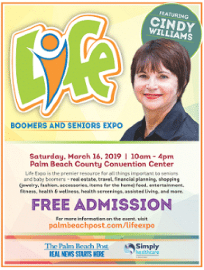 Advertisement for a seniors and Boomers expo