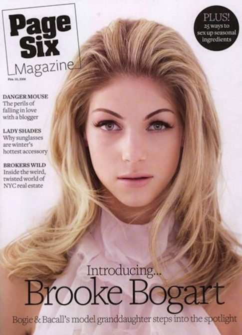 Brooke on the cover of Page Six