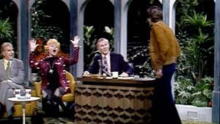 Lucille Ball, Desi Arnaz Jr., and Johnny Carson on 'The Tonight Show' 1974
