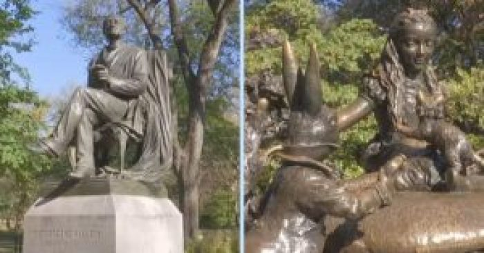 Monumental women noticed men have statues of real people like Search Results but women only had fictional females like Alice in Wonderland