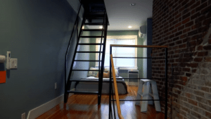 Many sets of stairs are needed to get to all the household basics