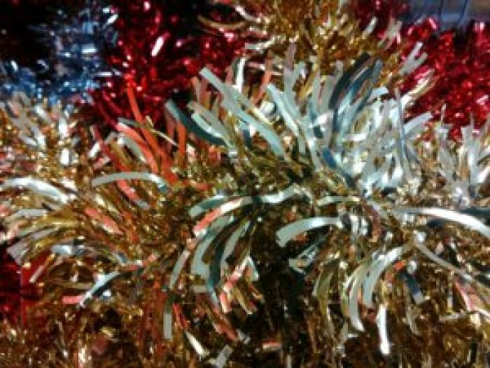Using tinsel caught on but the material changed