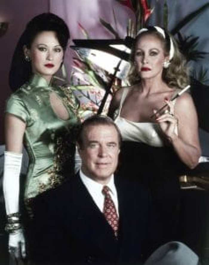 Julia Nickson, George Peppard, Ursula Andress in Man Against the Mob
