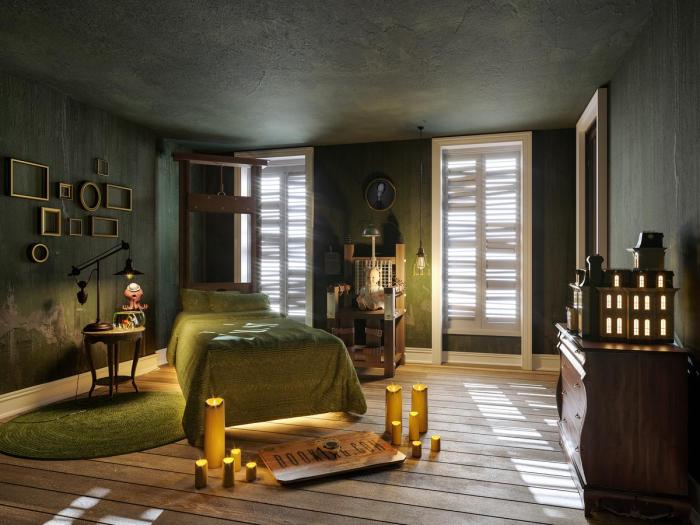 bedroom the addams family