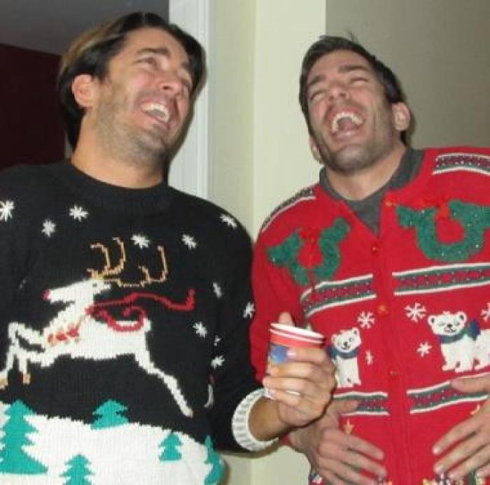 drew and jonathan scott christmas sweaters