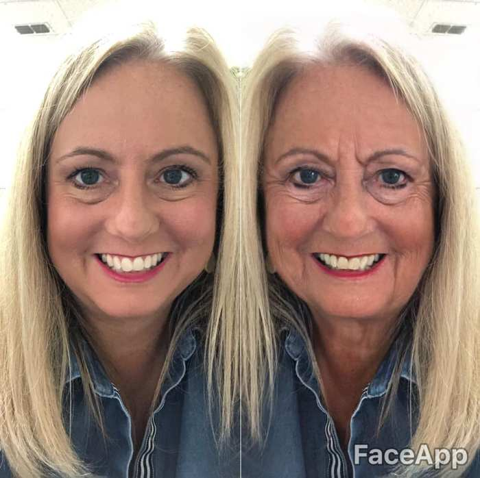 woman using faceapp