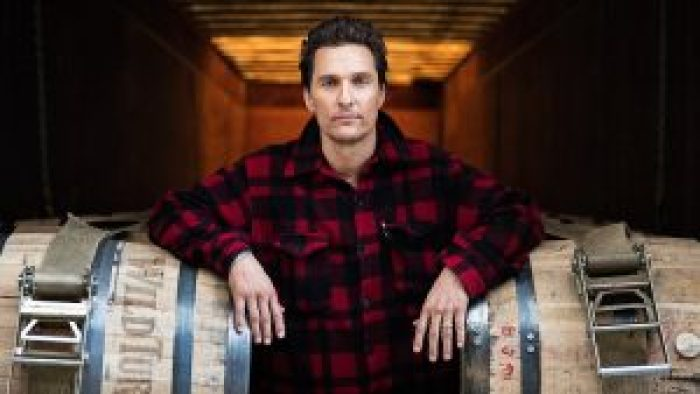 While creative director for Wild Turkey, McConaughey orchestrated food deliveries to first responders during California's fires