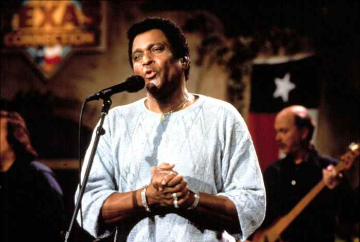 Charley Pride, singing on 'The Texas Connection,'