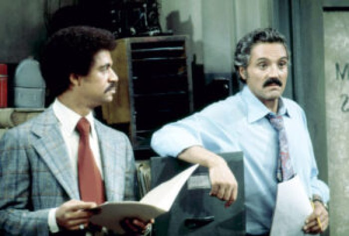 Ron Glass and Hal Linden in Barney Miller