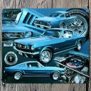 18-21CM-1965-Blue-Car-Metal-Poster-Ford-Mustang-Tin-sign-Wall-Decor-Vintage-Gift-Bar