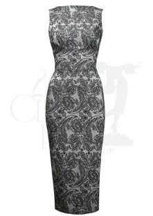 Betty Silver Brocade Wiggle Dress BUY