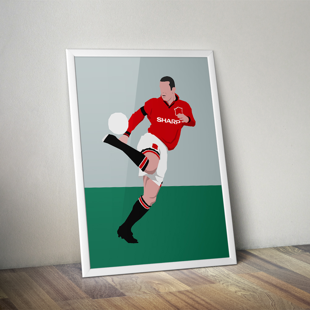 Find funny gifs, cute gifs, reaction gifs and more. Eric Cantona Manchester United Football Minimalist Design