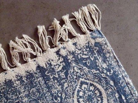 tapis de couloir coton motif arabesques