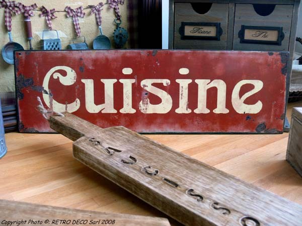 Plaque Mtal Cuisine Dco Rtro Antic Line DEC4932