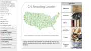 Construction Specialties' Recycling Locator