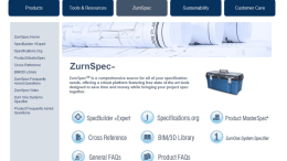 Zurn Industries LLC introduces additional comprehensive features to the MasterSpec specification system