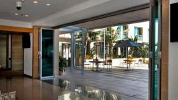LaCantina Doors offer folding doors that bring the outdoors inside.