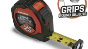Swanson Tool's new tape measure under its premium Savage brand that features a patent-pending rotating tip.