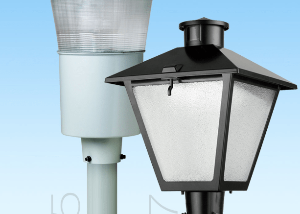 Post top decorative Contempo and American Revolution luminaires from American Electric Lighting are now available in LED.