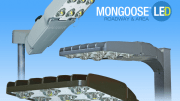 Mongoose LED Roadway and Area Lighting luminaires from Holophane.