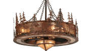 Meyda Custom Lighting has introduced the Elk at Dusk Chandel-Air, which integrates an elegant lighting fixture with ceiling fan technology.