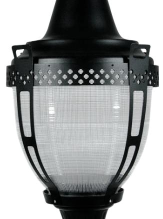 EYE Lighting International's Refractive Globe Post Tops