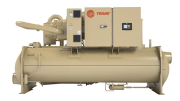 Trane is introducing an enhanced Trane Optimus helical rotary water-cooled chiller now available with the Trane Adaptive Frequency drive (AFD).