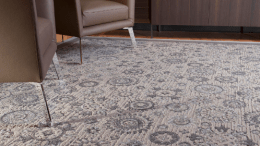 J+J Flooring Group has announced the introduction of Invision Rugs, a customized area rug program that directly complements the broadloom and modular products offered by J+J's leading brand – Invision. Valencia is shown here.