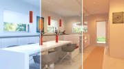 Color Select tuned to three different light settings (color temperatures/intensities):
