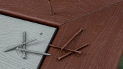 The Deck-Drive DCU Composite screw provides a cleaner, less-noticeable installed appearance due to its head design.