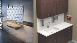 Bradley Corp. has received a gold-level 2015 Award for Design Excellence for its Verge L-Series Lavatory, and a silver-level ADEX for its HS-Series Terreon Solid Surface Undermount Basins.