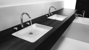 KWC America is bringing the contemporary styling of its KWC ZOE kitchen faucet to the bathroom with the introduction of a luxury lavatory faucet and shower valve collection.