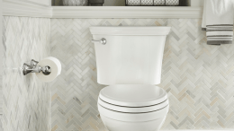 The VorMax high-efficiency toilets from American Standard remove all splatter, skid marks and clinging waste using only 1.28 gallons of water per flush.