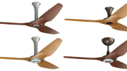Big Ass Fans introduced two hardware finishes—oil-rubbed bronze and satin nickel—for its line of Haiku ceiling fans.