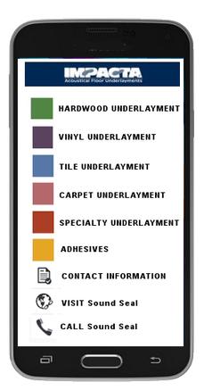 Sound Seal's Impacta smartphone app
