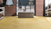 Mannington Commercial's Redefined Collection—two products inspired by houndstooth and chevron patterns—was created in collaboration with international architecture and design firm Corgan, Check and Herry.