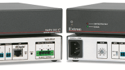 Extron Electronics announces the immediate availability of the Extron NetPA 502 AT and NetPA 1001?70V AT, half rack 1U, convection cooled power amplifiers equipped with Dante digital audio networking.