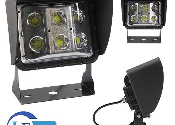The LEDWP-600E LED wall pack light from Larson Electronics offers high light output from a compact form factor.