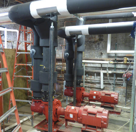 A chilled-water renovation took place for several historic buildings just in time for the 2014-15 school year. A closed-cell elastomeric foam insulation was installed on all of the chilled-water piping and the energy plant.
