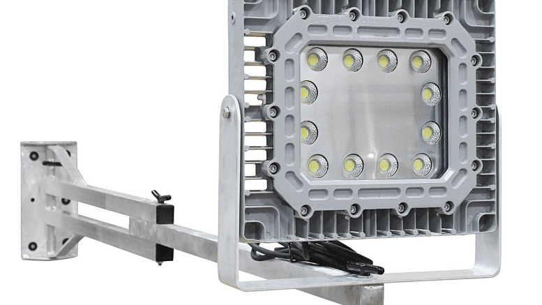 Larson Electronics releases a 150-watt explosion-proof LED switch blade dock light equipped with a 10-foot pivoting aluminum arm.