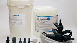 DRI-STEEM introduces a product, the de-scaling pump kit, with a powerful pump that thoroughly breaks down scale deposits in humidifier water tanks without the effort of hand-scraping.