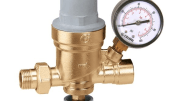 Caleffi's labor-saving 553 Series pre-adjustable AutoFill fill valve is now available with an optional system pressure indicator.