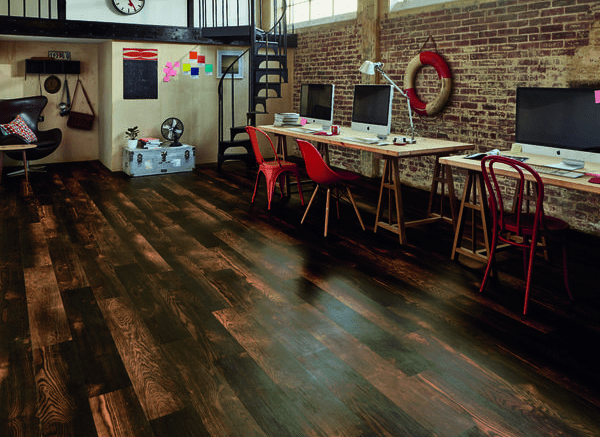 Karndean Designflooring has expanded its Van Gogh collection with 12 wood-look planks that encapsulate the look of transforming wood over time through burning, liming and smoking.